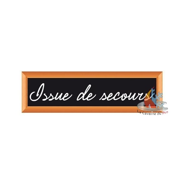 plaque signal tique issue de secours. Black Bedroom Furniture Sets. Home Design Ideas